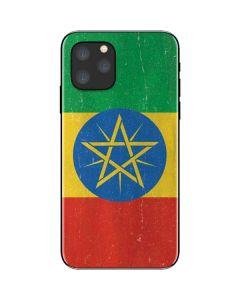 Ethiopia Flag Distressed iPhone 11 Pro Skin