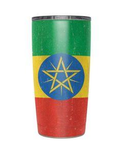 Ethiopia Flag Distressed Yeti 20oz Tumbler Skin