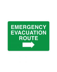 "Emergency Evacuation Route Right 7"" x 10"" Wall Graphic"
