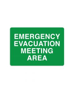 "Emergency Evacuation Meeting Area 7"" x 10"" Wall Graphic"