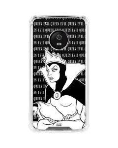 Evil Queen Black and White Moto G5 Plus Clear Case