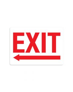 "Exit Left 7"" x 10"" Wall Graphic"