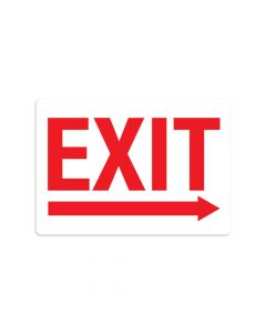 "Exit Right 7"" x 10"" Wall Graphic"
