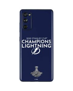 2020 Stanley Cup Champions Lightning Galaxy S20 Fan Edition Skin