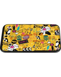 Tweety and Sylvester Patches Wireless Charger Duo Skin
