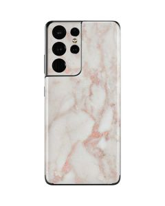 Rose Gold Marble Galaxy S21 Ultra 5G Skin