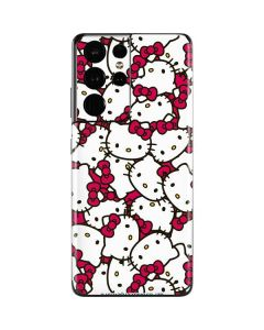 Hello Kitty Multiple Bows Pink Galaxy S21 Ultra 5G Skin