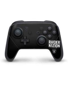 Las Vegas Raiders Team Motto Nintendo Switch Pro Controller Skin