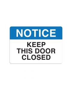 "Keep This Door Closed 7"" x 10"" Wall Graphic"
