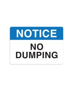 "No Dumping 7"" x 10"" Wall Graphic"