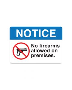 "No Firearms 7"" x 10"" Wall Graphic"
