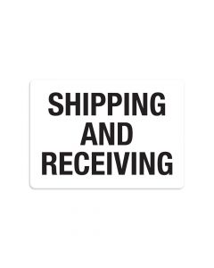 "Shipping and Receiving 7"" x 10"" Wall Graphic"