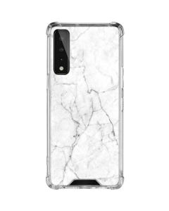 White Marble LG Stylo 7 5G Clear Case