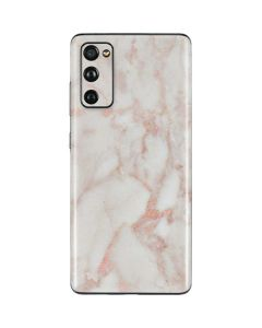 Rose Gold Marble Galaxy S20 Fan Edition Skin
