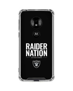 Las Vegas Raiders Team Motto Moto G7 Play Clear Case