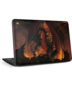 Fireball Dragon HP Chromebook Skin