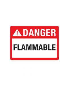 "Danger Flammable 7"" x 10"" Wall Graphic"