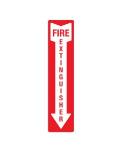 "Fire Extinguisher 4"" x 18"" Wall Graphic"