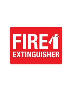 "Fire Extinguisher 7"" x 10"" Wall Graphic"