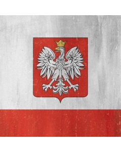 Poland Flag Distressed Generic Laptop Skin