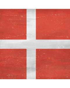 Denmark Flag Distressed Roomba i7+ with Dock Skin