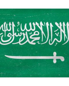 Saudi Arabia Flag Distressed Roomba i7+ with Dock Skin