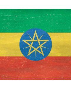 Ethiopia Flag Distressed Galaxy Book Keyboard Folio 10.6in Skin