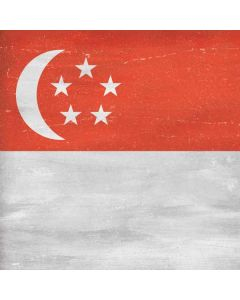Singapore Flag Distressed Generic Laptop Skin