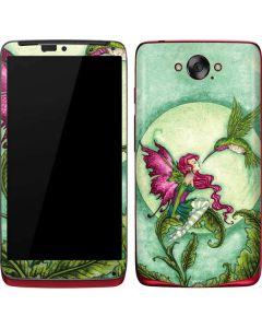 Flirting Fairy and Hummingbird Motorola Droid Skin