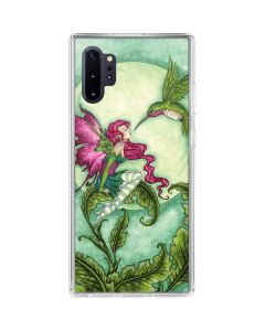 Flirting Fairy and Hummingbird Galaxy Note 10 Plus Clear Case