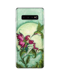 Flirting Fairy and Hummingbird Galaxy S10 Plus Skin