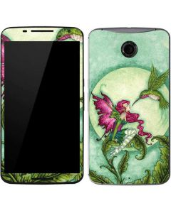 Flirting Fairy and Hummingbird Google Nexus 6 Skin