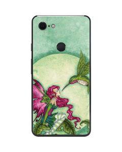 Flirting Fairy and Hummingbird Google Pixel 3 XL Skin