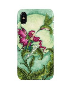 Flirting Fairy and Hummingbird iPhone XS Max Lite Case