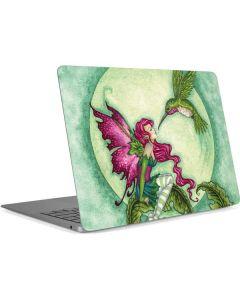 Flirting Fairy and Hummingbird Apple MacBook Air Skin
