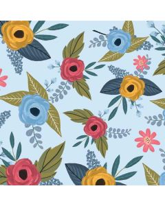Blue Fall Flowers HP Pavilion Skin