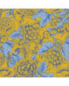 Mustard Yellow Floral Print Generic Laptop Skin