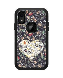 Floral Heart Otterbox Defender iPhone Skin