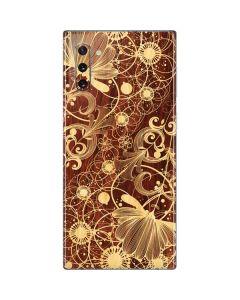 Floral Wood Mahogany Galaxy Note 10 Skin