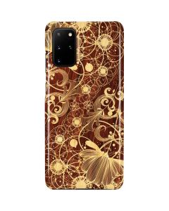 Floral Wood Mahogany Galaxy S20 Plus Lite Case
