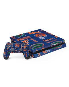 Florida Gators Pattern PS4 Slim Bundle Skin