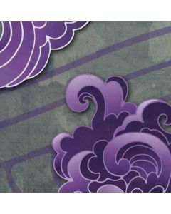 Purple Flourish LifeProof Nuud iPhone Skin