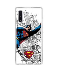 Flying Superman Galaxy Note 10 Clear Case