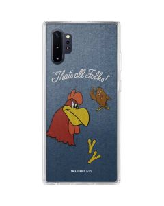 Foghorn Leghorn Thats All Folks Galaxy Note 10 Plus Clear Case