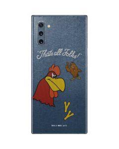 Foghorn Leghorn Thats All Folks Galaxy Note 10 Skin