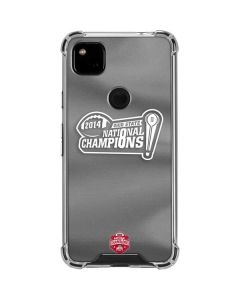 Football Champions Ohio State 2014 Google Pixel 4a Clear Case