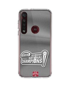 Football Champions Ohio State 2014 Moto G8 Plus Clear Case
