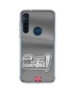 Football Champions Ohio State 2014 Moto G8 Power Clear Case
