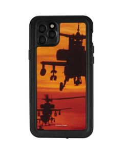 Four AH-64 Apache Helicopters iPhone 11 Pro Max Waterproof Case