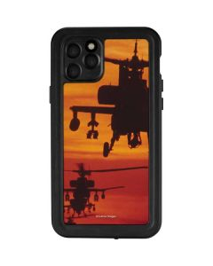 Four AH-64 Apache Helicopters iPhone 11 Pro Waterproof Case